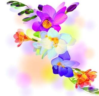 Classical Fantastic Vector Flowers 02