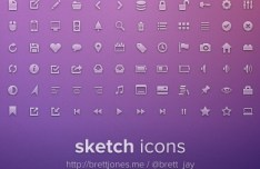 Sketch Web Icons Pack PSD