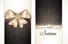 Vector Fantastic Gift Cards with Ribbon Bows 05