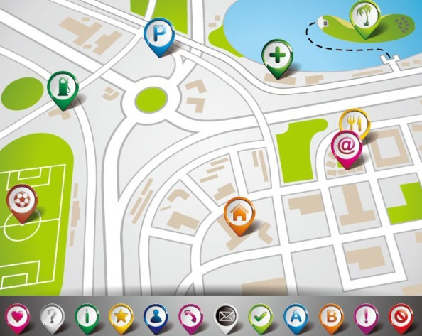 Vector Map Navigation App Elements 03