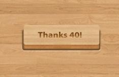 3D Wooden Button Template PSD