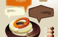 Fashion Colorful Labels with Numbers For Infographic 01
