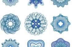 Set Of Vector Guilloche Rosettes Quality Decorative Elements 02