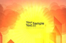 Vector Blank Brochure Cover Template with Sunrise 02