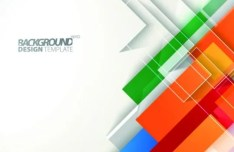 Abstract Colored Shapes Vector Background