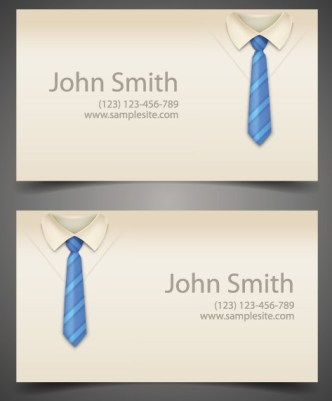Vector Creative Business Card Template For Business Men