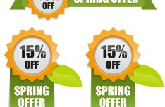 Vector Fresh Spring Offer Labels 01