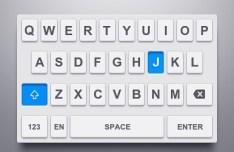 iOS Keyboard UI PSD