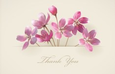 Vector Elegant Pink Flowers with Parchment Background 05