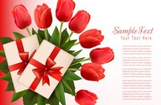 Beautiful Tulip Card Cover Design Template Vector 03