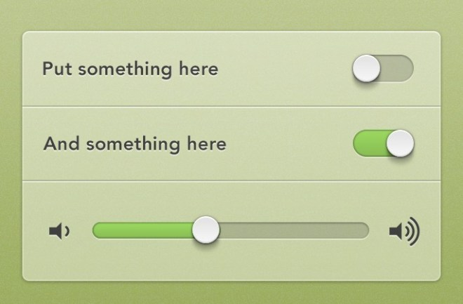 Simple Audio Player Components PSD