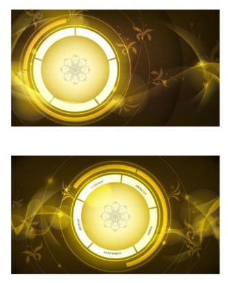 Vector Golden Abstract Circle Background