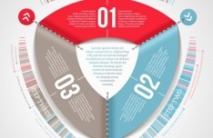 Vector Technology Infographic Step Options Elements 06