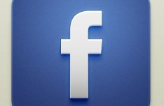 Beautiful Facebook iOS Icon PSD
