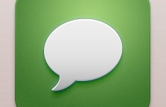 Beautiful Messages iOS Icon PSD