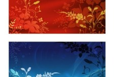 Set Of Vector Floral Backgrounds and Banners