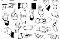 Vector Hands and Gestures Design Elements 05