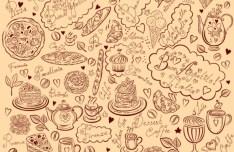 Vector Vintage Hand-Drawn Decorative Ornaments For Cafe & Restaurant 02