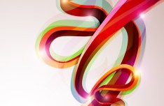Colorful Abstract Shapes Background Vector 02