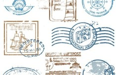 Vector Travel Postmark Seals