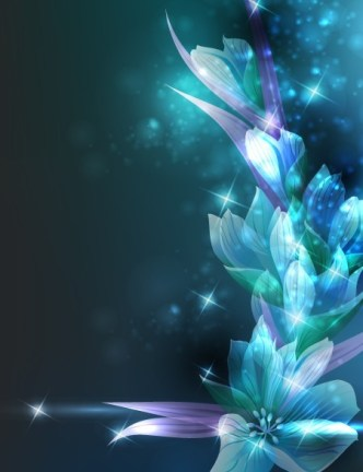 Elegant Card Background With Sparkling Flowers 02
