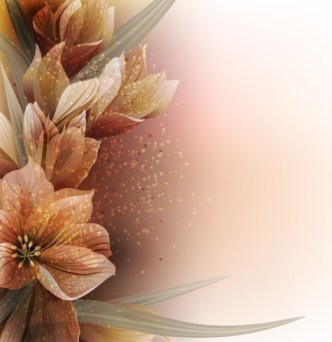 Elegant Card Background With Sparkling Flowers 03