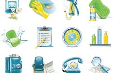 Set Of Vector Daily Necessities Icons