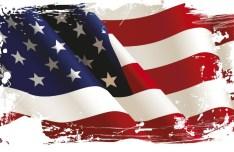 Vintage American Flag Design Vector 04