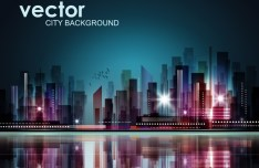 Abstract Modern City Background Vector 02