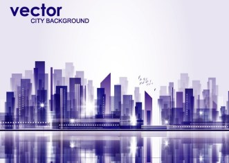 Abstract Modern City Background Vector 03
