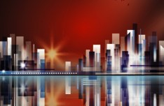 Abstract Modern City Background Vector 05