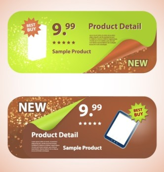 Creative Rounded Product Promotion Banners Vector 02
