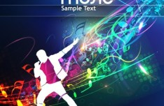 Fashion and Colorful Vector Music Background 02