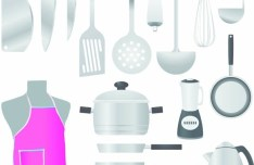 Vector Cookware and Cooking Utensils 01