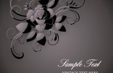 Vintage Dark Flower Pattern Background Vector 02