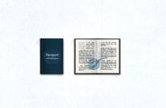 Blue Passport PSD Icon