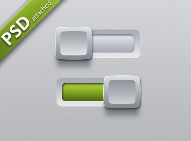 Free Sleek Switch Buttons with White Sliders PSD - TitanUI