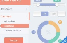 Flat Dashboard UI Design PSD
