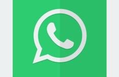 Flat Whatsapp Icon PSD