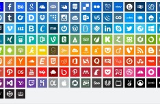 Simple Flat Design Social Icons