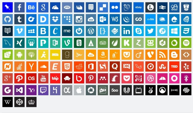 Simple Flat Design Social Icons