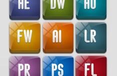 Sleek Adobe Product Icons