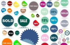 Retail Promotions Vector Labels & Stickers Collection