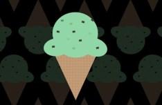 Flat Ice Cream Icon PSD