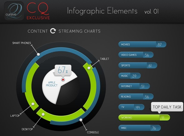 CQ Infographic Elements PSD