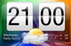 HTC Sense Flip Clock PSD