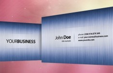 Blue and Silver Business Card Template PSD