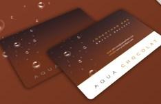 Chocolate Business Card Design Template PSD