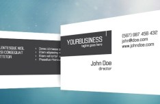 Crispy Business Card Template PSD