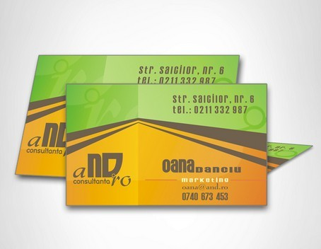 Paper Folding-Like Business Card Template Vector